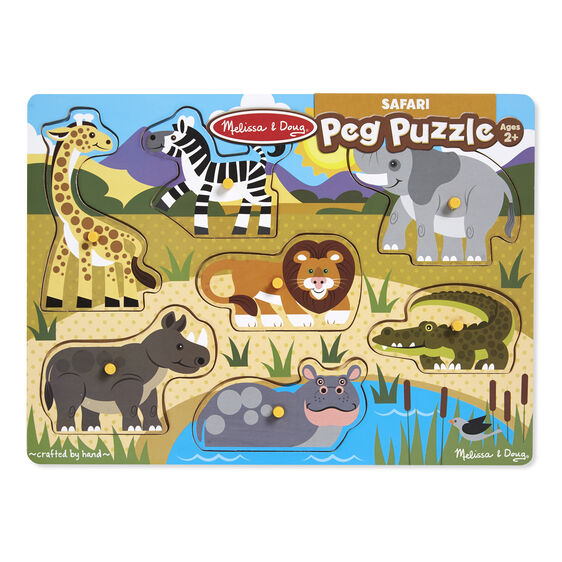 Safari Peg Puzzle 7pc
