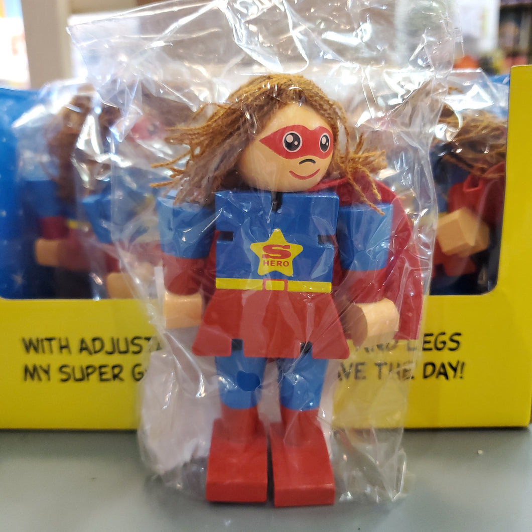 Super Girl wooden toy