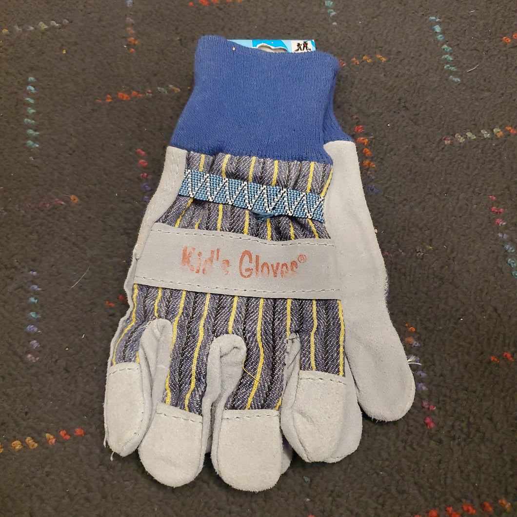 kids work gloves: med