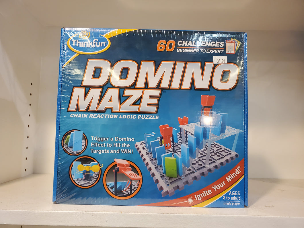 Domino Maze: Chain reaction logic puzzle
