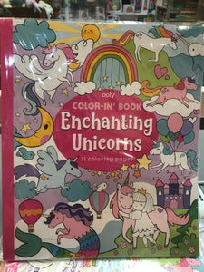 ooly - Enchanting Unicorns Color-in' Book