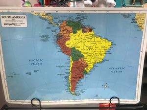 Map Placemat - South America