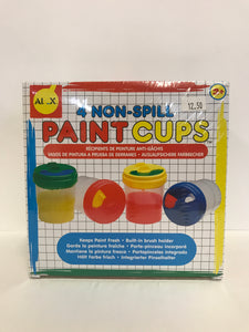 4 Non-Spill Paint Cups