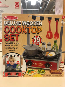 Melissa & Doug - Deluxe Wooden Cooktop Set