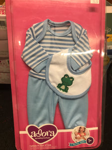 "Adora - 13"" Doll 3pc Layette Set"