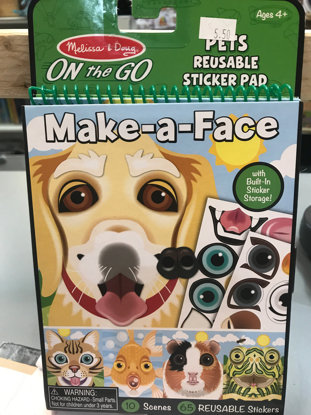 Melissa & Doug - Make a Face Pets Sticker Pad