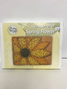 String Art DIY spring flower
