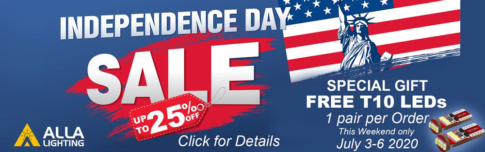 July 4th Sale Promotion Alla Lighting_Auto LED Lights Bulbs