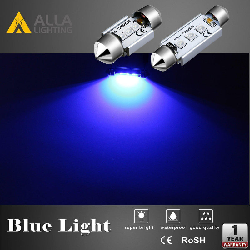 42mm 211-2 578 LED Festoon Bulbs Interior Map Dome Trunk Lights-Alla Lighting