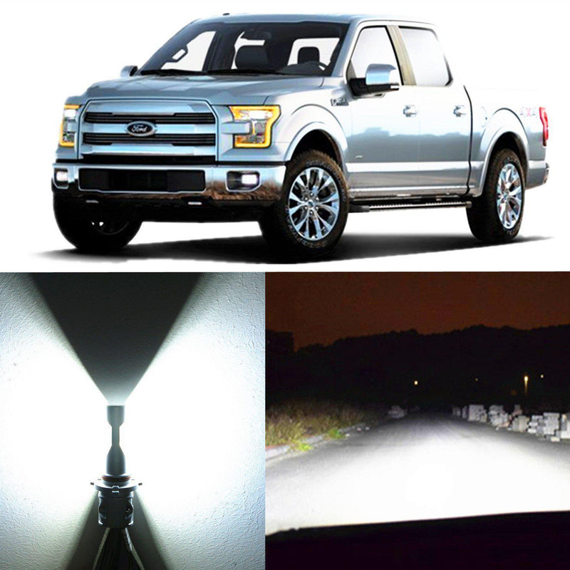2004-2014 Ford F-150 LED Headlights Bulbs Replacement H13 Hi/Lo Beam