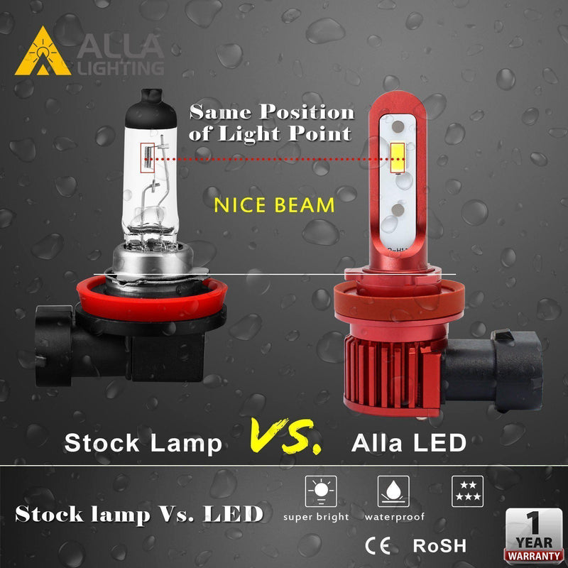 AL-R H10 9145 LED Fog Lights Bulbs Replacement for Cars Trucks-Alla Lighting