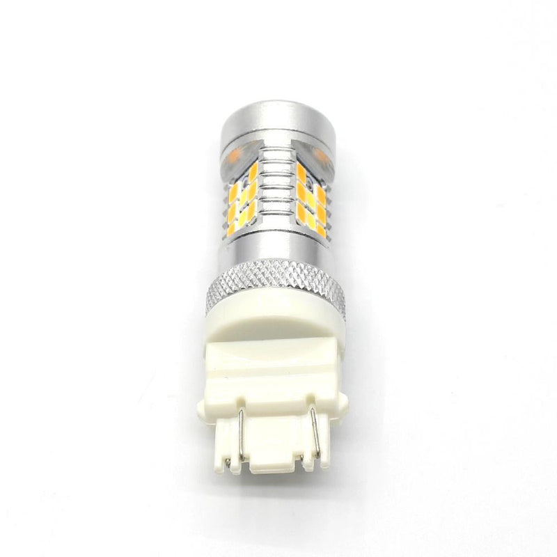 3457 3157 LED Switchback Bulbs Turn Signal Lights, 6K White/Amber Yellow-Alla Lighting Inc