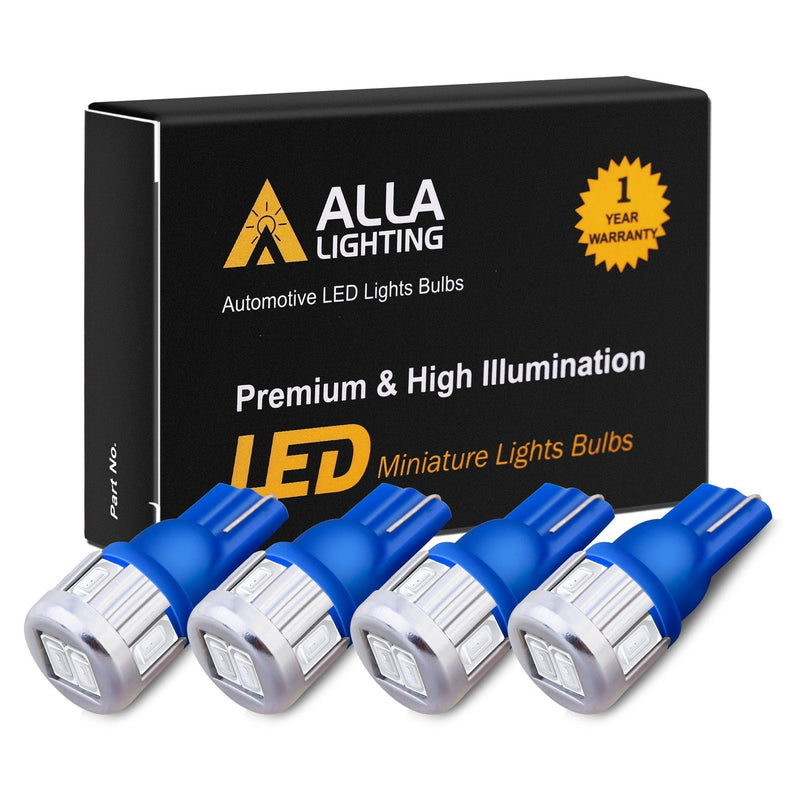 T10 194 168 LED Lights Bulbs 5630-SMD W5W 2825-Ultra Blue-Alla Lighting