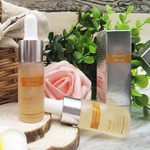Vitamin C Facial Care Serum&Six Peptides Serum 24K Gold+Hyaluronic Acid Serum Anti Aging Whitening Brighten Liquid