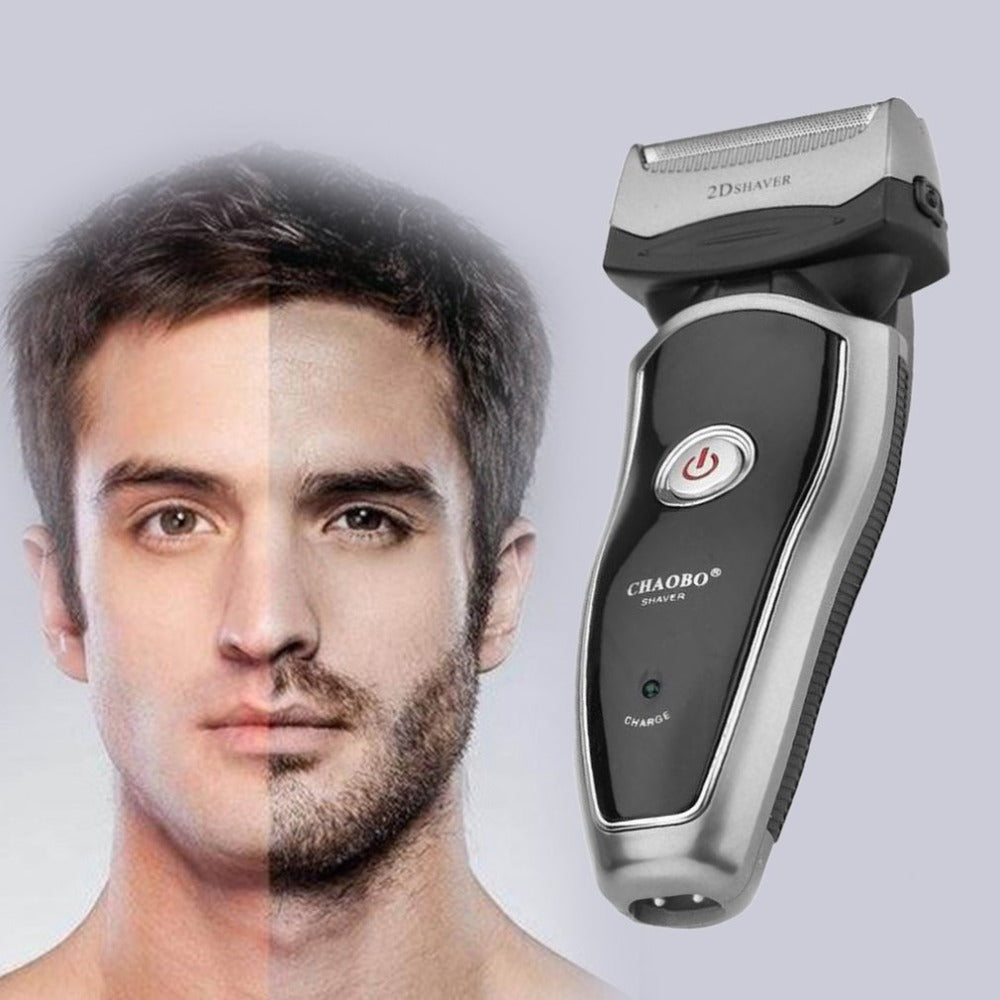 US Plug Rechargeable Cordless Electric Razor Portable Man Beard Shaver Groomer Double Side Trimmer Face Care Tool
