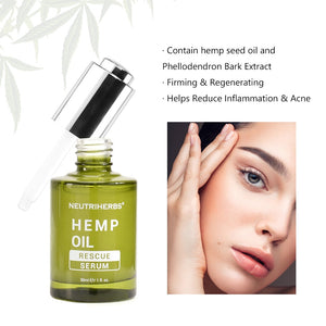 Hemp Oil Serum CBD Bio active Hemp Seeds Oil Extract Drop for Reduce Anxiety Better Sleep Essence oils