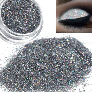 1Box Fashion Sparkly Makeup Glitter Loose Powder Silver Eye Pigment Glitter