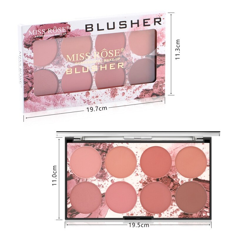 8 colors Makeup Blush Moisturizing Waterproof Cheek Blusher Nude Face Makeup Cream