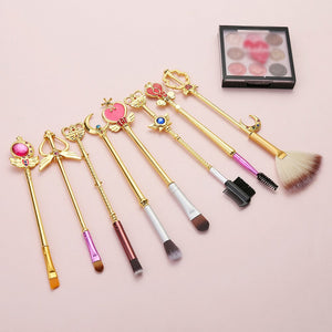 8pcs/Set Makeup Brushes Set Cute Sailor Moon Professional Eyeshadow Make Up Brushes Tool Kit Cosmetics Soft Synthetic Hair