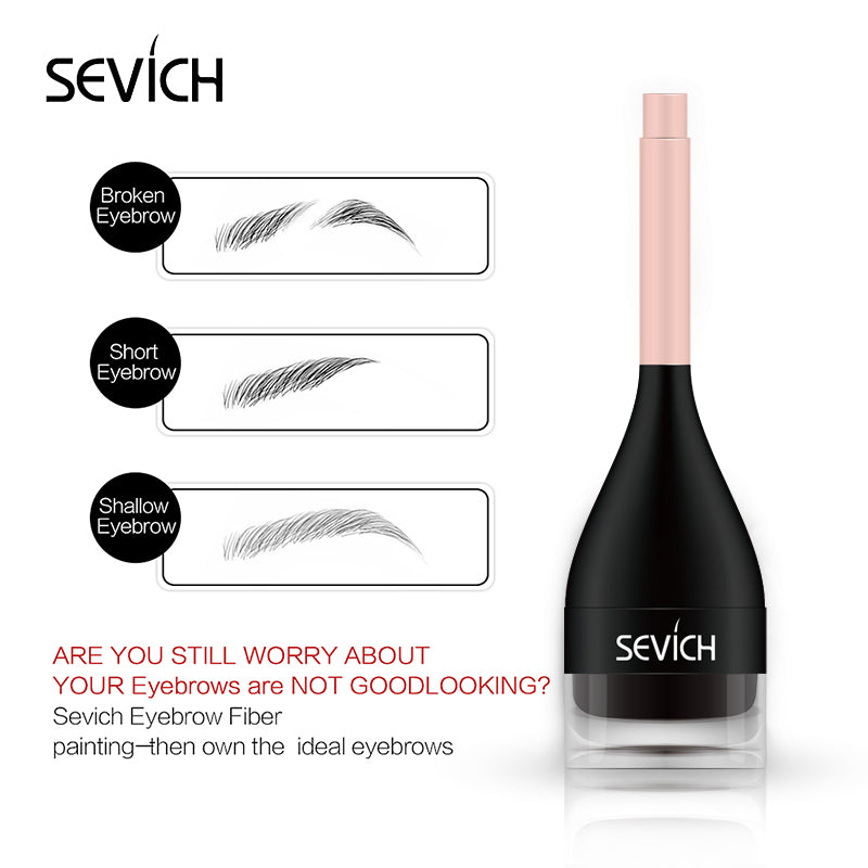 Sevich 3D Eyebrow Fiber Pen Natural Lifelike Repair Increase Eyebrow Easy Wear Long lasting Waterproof Eye Make Up Brush Fashion