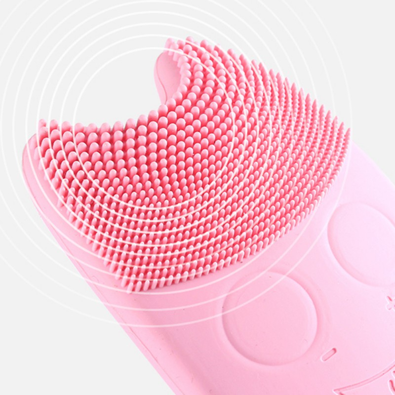 USA Warehouse Mini Electric Facial Cleaning Brush Waterproof Massage Machine Silicone Facial Cleansing Devices Tools