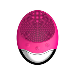 Bamboo Charcoal Silicone Face Cleansing Device Waterproof USB Electric Sonic Vibration Pore Cleaning Beauty Machine