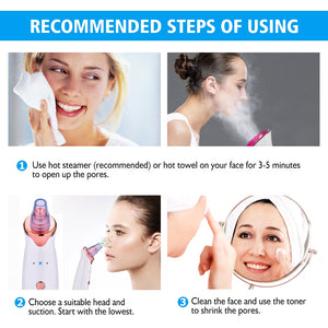 Face Clean Pore Vacuum Blackhead Remover Skin Care Acne Pimple Removal Vacuum Suction Facial Diamond Dermabrasion Tool Machine
