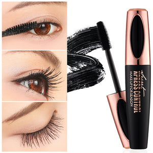 4D Silk Fiber Lash Mascara Waterproof Mascara For Eyelash Extension Thick Lengthening Eye Lashes Cosmetics Tools