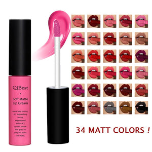 Brand Beauty Makeup Lipgloss Waterproof Long Lasting Matt Lip Gloss Pigment Blue Black Velvet Lipstick Liquid Matte Make up