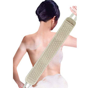 Back Scrubber Men Women Soft Loofah Bath Towel Exfoliating Massage Towel Body Cleaning Bathing Towel