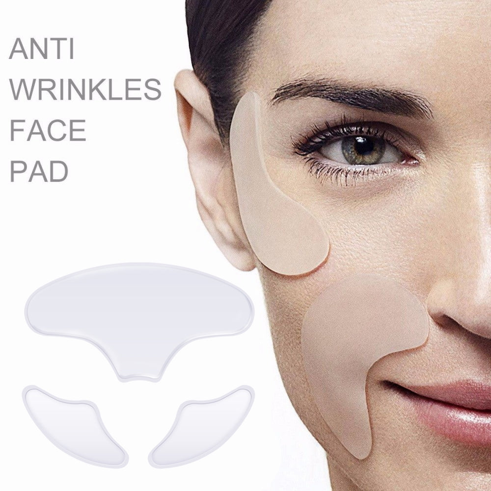 Anti Wrinkle Silicone Pad Face Patches Reusable Facial Pads Reduce Fine Lines Forehead Wrinkle Removal Skin Care Wrinkles Repair