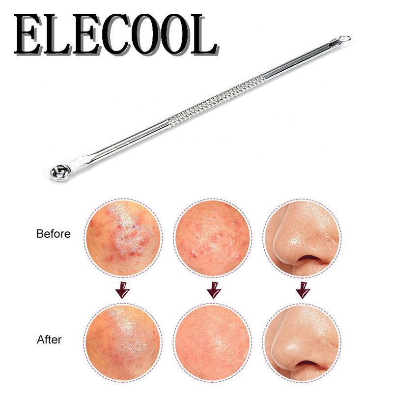 ELECOOL  1Pcs Blackhead  Pimple  Remover Tool  cleaner  Tool  Comedone Extractor Skin Cleansing Stainless Steel Needles