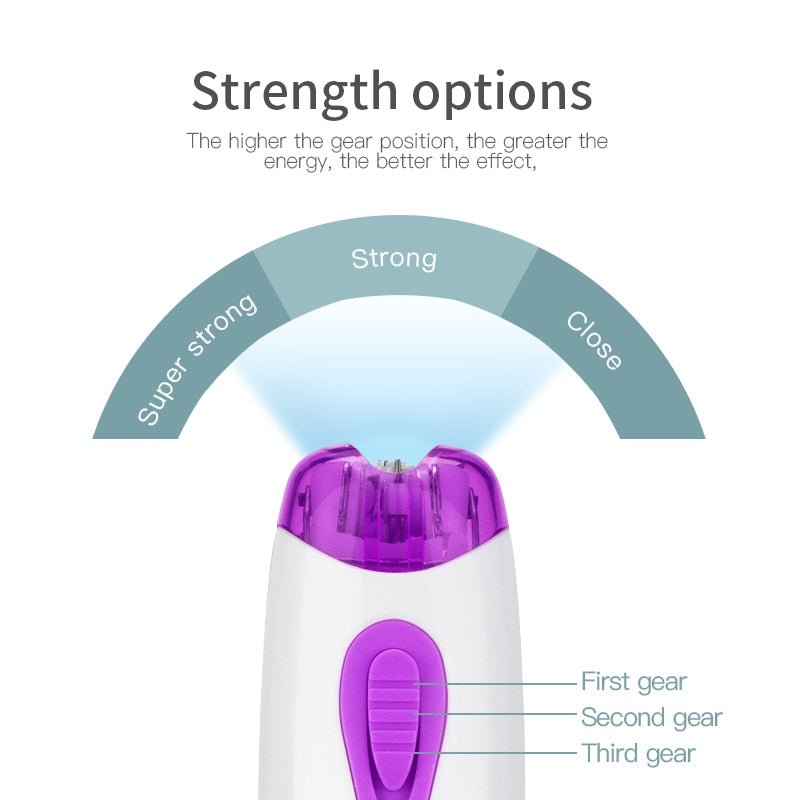 Portable Mini Epilator Smooth Electric hair removal for Women Multifunction Cordless Body Facial Hair Razor Trimmer