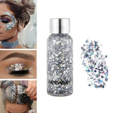 Eyeshadow Glitter Nail Hair Body Face Glitter Gel Art Flash Heart Loose Sequins Cream Decoration Party Festival Glitter