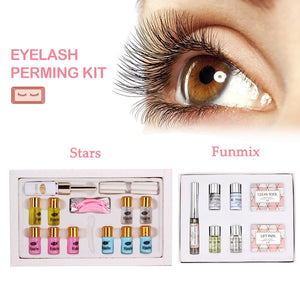 Portable 7 8 Types/Set Eyelash Curling Perming Set Curler Rod Glue Perm Lotion Lashes Lifting Kit Eyes Makeup Tool
