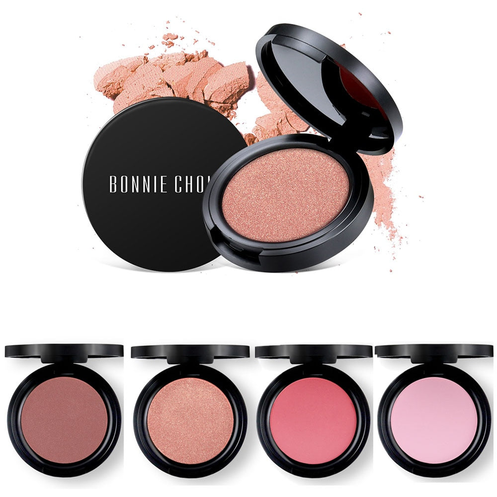 1 Pc Blush Baked Cheek Face Blusher Texture Baked Blush Face Base Mineral Blusher Palette Blush Makeup 6 Colors