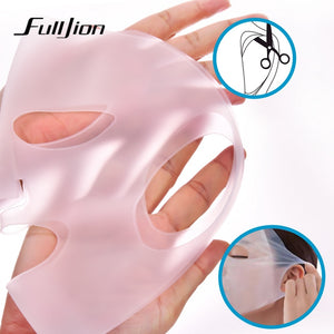 Fulljion Reusable Silicone Mask Cover Face Skin Care Hydrating Moisturizing Mask For Sheet Prevent Evaporation Steam Beauty Tool