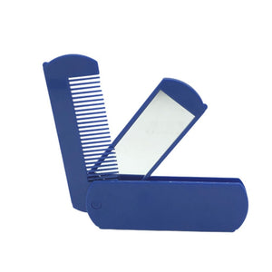 Two In One Mirror Folding Comb Pocket Mirror Folding Comb Beard Comb Plastic Mirror Pocket Beard Comb