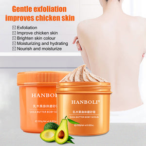 Shea Butter Body Scrub Exfoliating Moisturizing Remove Dead Skin Softens Skin Body Exfoliator Cream