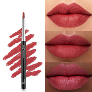 17 Colors/Set Sexy Matte Lip Stick Lipliner Lip Liner Pencil Matt Nude Lipsliner Pen Set Beauty Makeup Tool Cosmetic