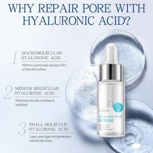 Hyaluronic Acid Serum Firming Skin Smooth Fine Lines Liquid Brighten Skin Tone Face Whitening Essential Oil Hot Sale
