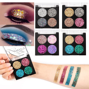Festival Glitter Sequin Eye Shadow Palette Shimmer 4 Colors Professional Eyes Star Make Up Pigment Makeup Eyeshadow Pallete