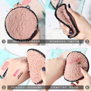 Soft Microfiber Makeup Remover Towel Face Cleaner Plush Puff Reusable Cleansing Cloth Pads Foundation Face Skin Care Tools
