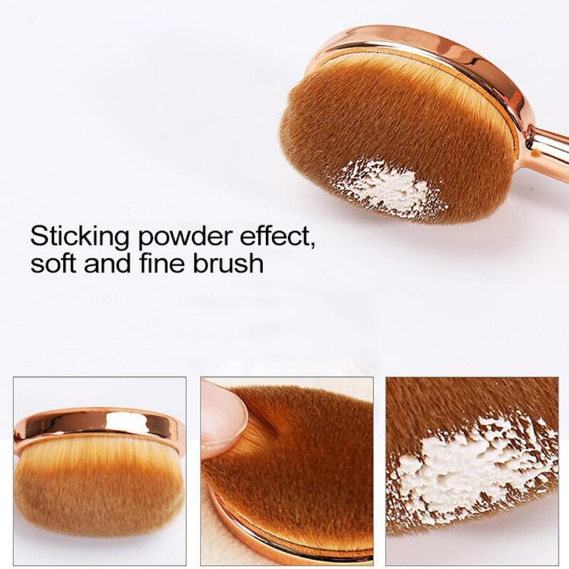 1Pcs Foundation Makeup Brush Powder Contour BB CC Cream Highlighter Blush Blending Cosmetic Make Up Brush Beauty Tools