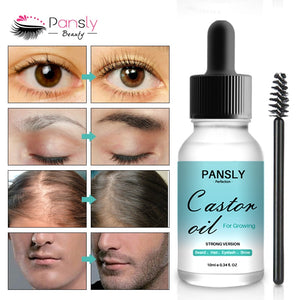 Eyebrows Growth Serum Eyelash Growth Liquid Makeup Castor Seed Eye Lash Oil Enhancer Longer Thicker Grow Serum Cosmetics