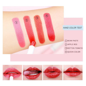 Fashion 4 Colors Velvet matte Cigarette Lipstick makeup Long Lasting lipstick set make up nude lipstick