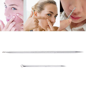 6types Black Head Pimples Acne Removal Needle Tool Acne Tweezer Stainless Steel Blackhead Extractor Tool Antibacterial Face Care