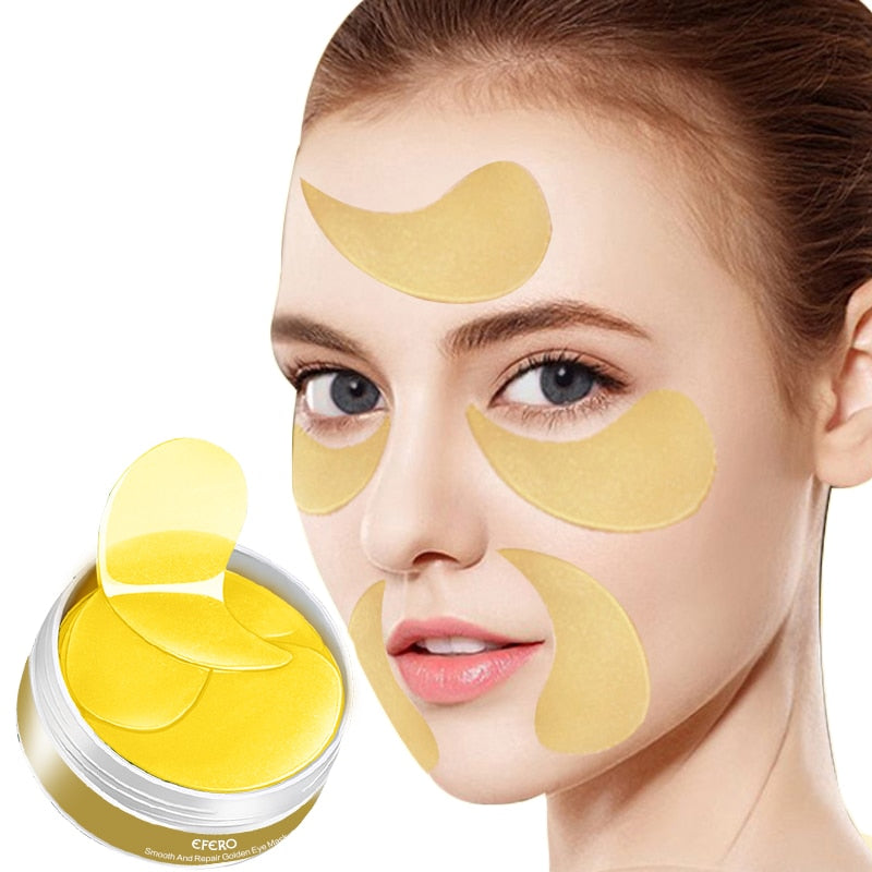120pcs/2box Collagen Eye Mask Anti Aging Fine Lines Dark Circles Removal Gel Eye Patch Moisturizer Eye Gel Mask for Face Care