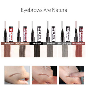 1/2Pcs/set Four Heads Eyebrow Pencil Makeup Waterproof For Eyebrows Pen Tattoo Tint Long Lasting Liquid Eye Brow Make Up