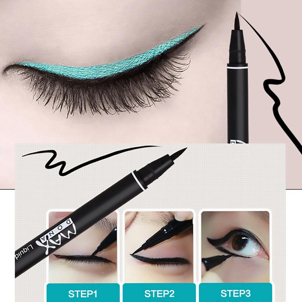 1Pcs Professional Black Eyeliner Waterproof Long lasting Smudge Proof Comestic Eye Liner Pencil Beauty Makeup Eyes Marker Pen